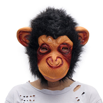 Halloween Adult Animal Chimp Monkey Ape Mask Fancy Dress Costume Party Accessory
