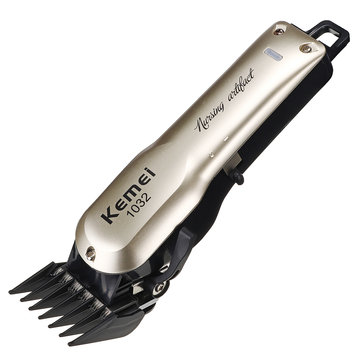 KM-1032 Hair Clippers Cordless Hair Trimmer for Men Professional Hair Cutting Kit Shaver 1000mAh