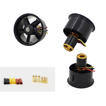 QX-Motor 64mm 5 Blades Dual EDF Unit Without Motor For RC Airplane