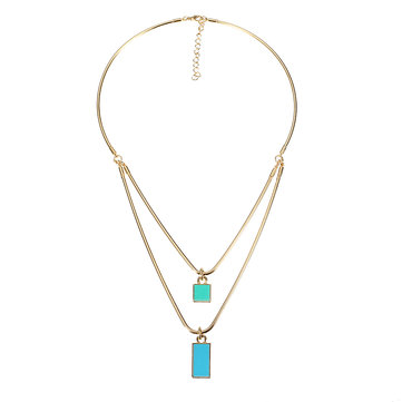 JASSY® Double Layer Enamel Delicate Fashion Necklace Jewelry for Women