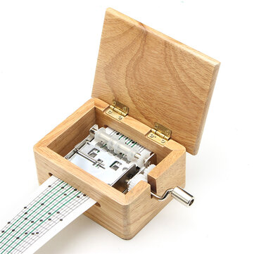 44% OFF For DIY Hand-cranked Music Box Wooden Box With Hole Puncher And Paper Tapes