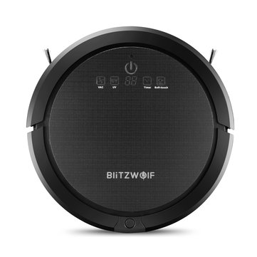 BlitzWolf® BW-XRC600 Ultrasonic Smart Robot Vacuum Cleaner with 1200pa 3350mAH UV APP Wifi Control