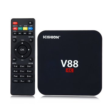 SCISHION V88 RK3229 4K Android 5.1 1G 8G WIFI LAN Dolby DTS Media Player TV Box Android Mini PC