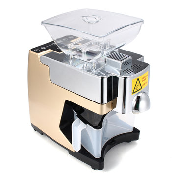 220V Mini Full-automatic Seed Oil Press Machine Home Use Peanut Oil Pressing Presser Machine Switch