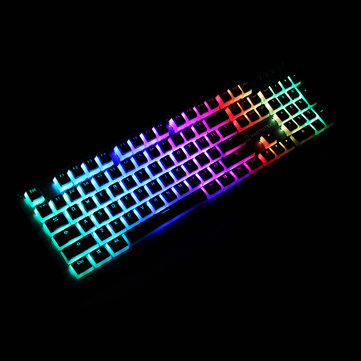 104 Key PBT OEM Profile Double-Skin Milk Keycap Translucent Key Caps for Mechanical Keyboard