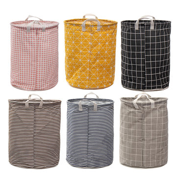 Foldable Large Storage Laundry Hamper Clothes Baskets Sorter Canvas Laundry Washing Bag