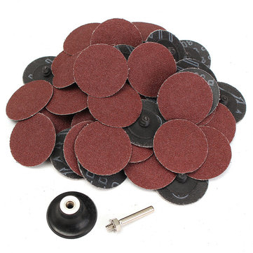 50pcs 80 Grit 2 Inch Roll Lock Sanding Disc Abrasive Tool