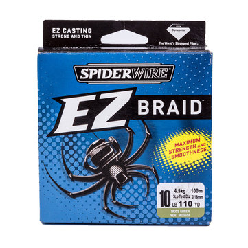 Spiderwire EZ 100M PE Braided Wire Dark Green Lure Fishing High Drag Power Fishing Line