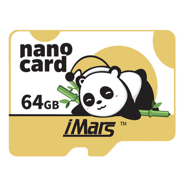 iMars 32G 64G 128G Panda Style High Speed High Capacity Micro Memory Card