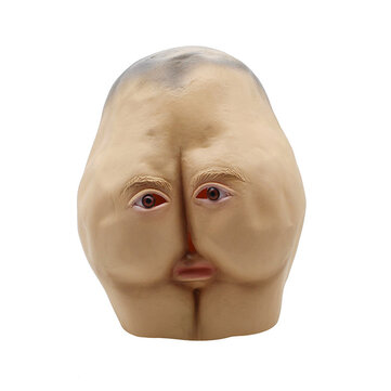 Latex Butt Head Mask Adult Ass Halloween Party Costume Accessory Prop Cosplay Mask