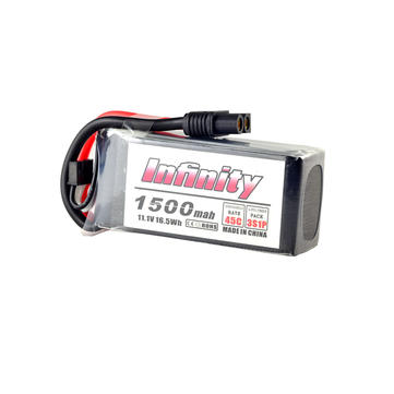 AHTECH Infinity 3S 11.1V 1500mAh 45C Graphene LiPo Battery XT60 SY60 T Plug Connector for RC Drone