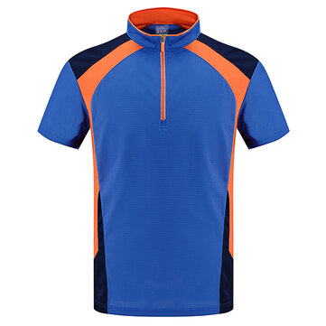 Outdoor Lovers Quick Drying Lapel T-shirts Men's Casual Sports Breathable Short Sleeved Tops