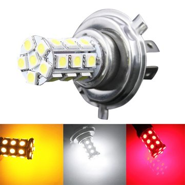 H4 5050 27SMD Car White LED Fog Light Bulb