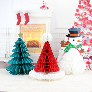 christmas diy decorations tree hat snowman comb ball party christmas pendant drop ornaments supplies