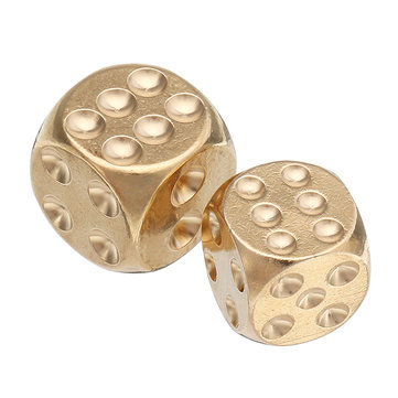 Brass Solid Copper Dice Gold Color Mahjong Dice for Game Gife Party