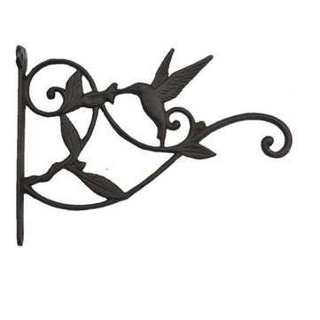 Retro Cast Iron Garden Hanging Basket Hook Bracket Planter Pot Wall Ornate Decor