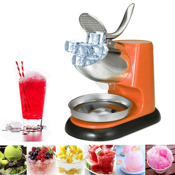 300W Commercial Electric Ice Crushing Machine Ice Crusher Shaver Snow Cone Ice Maker 220V Orange US / EU / UK