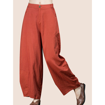 Buy O-NEWE Women Elastic Waist Wide Leg Pants for $27.70 in Banggood store