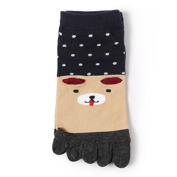 Women Girls Cotton Breathable Five Toe Socks