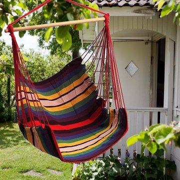 Bahçe Terasta Asılı Tavuklu Hamak Sandalye Kapalı Outdoor Pamuklu Salıncak Minder Oturağı