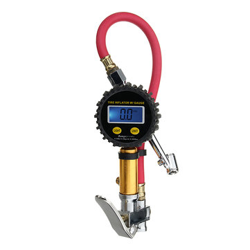 200Psi Digital LCD Air Tire Tyre Inflator High Accurate Pressure Gauge Night Vision With Dual Chuck