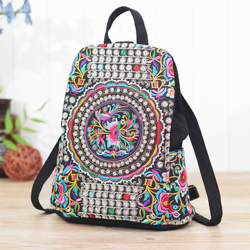 Ethnic Embroidery Flowers Bag Shoulder Bag Backpack