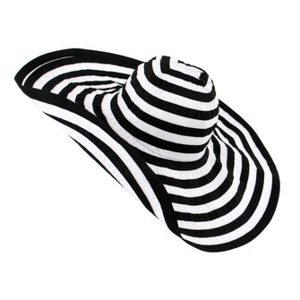 Women Stripes Wide Brim Floppy Cotton Beach Hat Summer Sunscreen Visor Hat