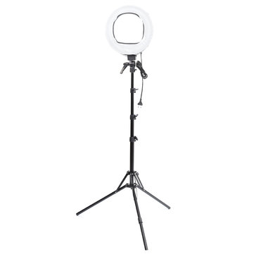 VL-9047 45W 5500K Studio LED 12 Inch Ring Light With Stand Photo Video Selfie Makeup Beauty