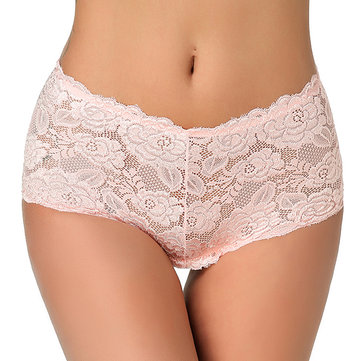 Sexy Lace See Through Embroidery High Waist Panties Lingerie