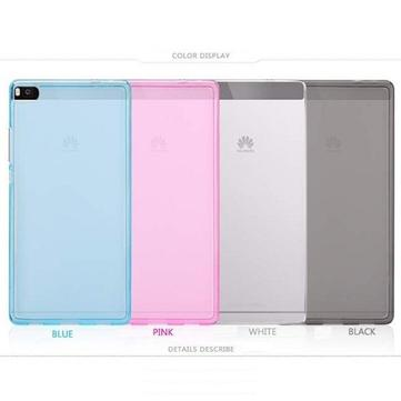 Silicon Color Options Anti-Fingerprints Matte Protective Pudding Case For Huawei Ascend P8