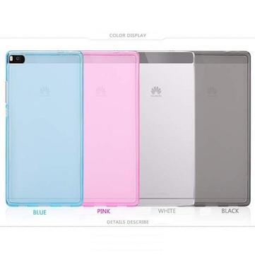 Options de couleur de silicium anti- empreintes digitales mat étui de protection pour pouding Huawei Ascend p8