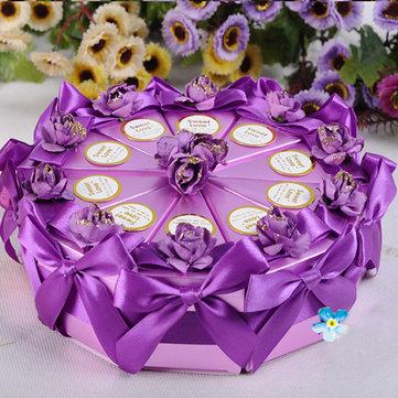 Scatole regalo dolce al cioccolato 10pcs regalo caramelle torta nuziale box triangolo torta di partito