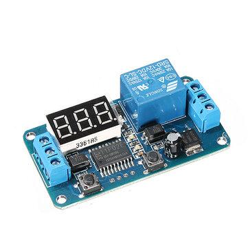 5Pcs Geekcreit® DC 12V LED Display Digital Delay Timer Control Switch Module PLC