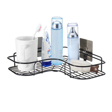 Shower Storage Drain Shelf Rack Wall Organizer Suction Basket Holder For Kitchen & Bathroom