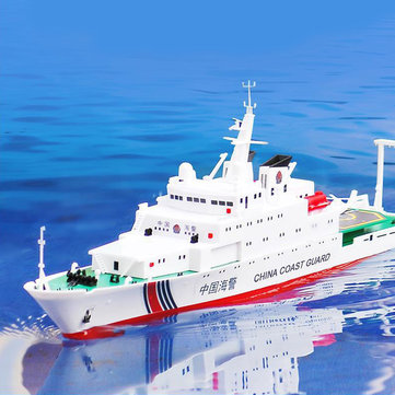 1/250 39cm 2.4G China Sea Patrol 3383 RC barco 25km / h Doble motor Modelo de juguete para niños