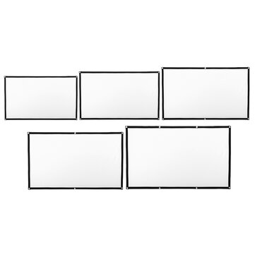 60 72 84 100 120 Inch 16:9 HD Curtain Display Screen Indoor Outdoor Home Theatre