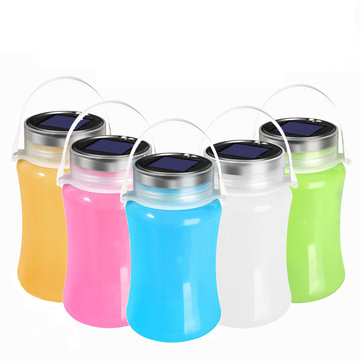 Outdoor Fishing Folding Solar Light IPX7 Waterproof Powered LED Lantern Silicone Bottle