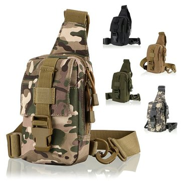 Outdoor Multifunctional Tactical Cycling Chest Pack Fishing Hunting Hiking Shoulder Bag