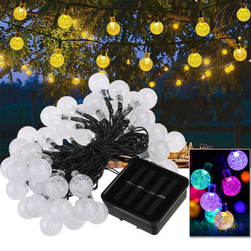 50 LED Solar Powered Christmas Fairy String Light Party Outdoor Patio Garden Decorative Lamp