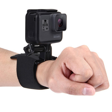 PULUZ Hand Wrist Arm Leg Straps 360-degree Rotation Mount for Gopro SJCAM Xiaomi Yi Action Camera