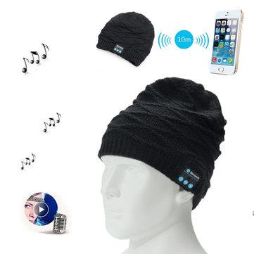 بلوتوث اللاسلكية محبوك قبعة سماعات مدمج ستيريو الموسيقى المتكلم ل الهاتف المحمول