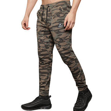 Mens Fashion Camo Compression Sports Pants Casual Jogging Fitness Digging Bag Feet Pants