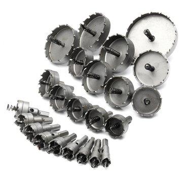 23pc 16-100mm Hole Saw Cutter Drill Bit Set Carbide Tip Drill Bit TCT Metal Wood Cutter