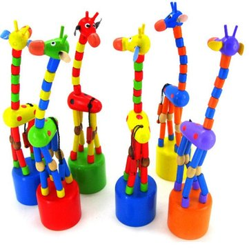 Giraffe Toys Wood Standing Kid Colorful Intellectual Gifts Developmental