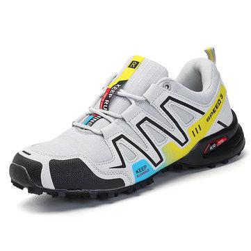 كبيرة الحجم الرجال تنفس المشي لمسافات طويلة الرياضة أحذية رياضية مريحة