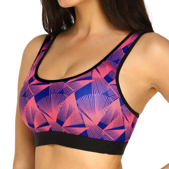 KissLace Printed Shockproof Padded Fitness Sports Bra