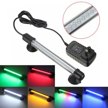 18 LED Fish Tank Bar Submersible Waterproof Strip Lamp 100-240V