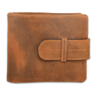 Men Genuine Leather Vintage Brown Wallet Bifold Card Holder Slim Wallet
