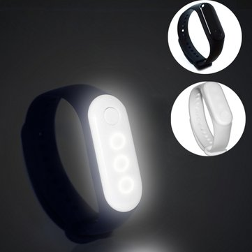 LUSTREON Colorful LED Glowing Wristband Bracelet Detachable 10 Modes Sports Band Night Light