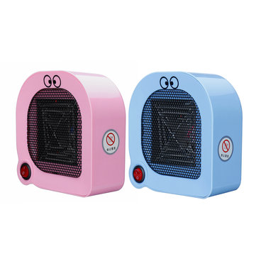 400W Mini Protable Space Heater Cartoon Type Desktop Electric Heater Fan Fast Heating